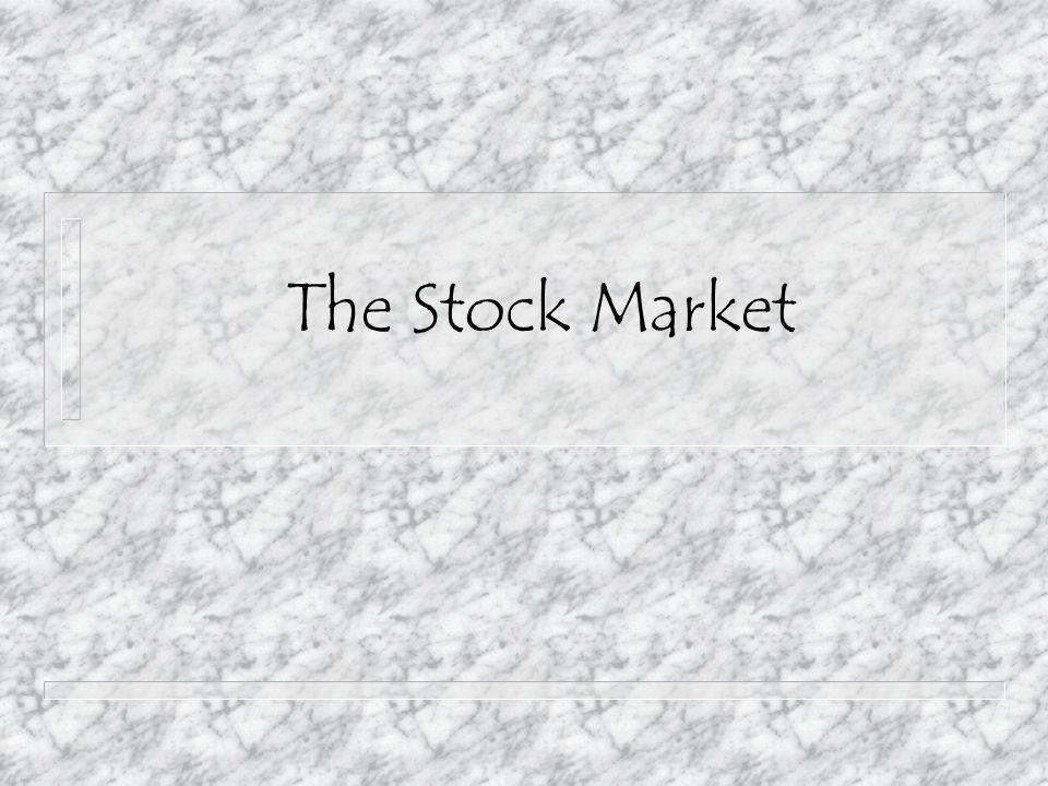 Introduction The stock market is an addition to a company's business.
