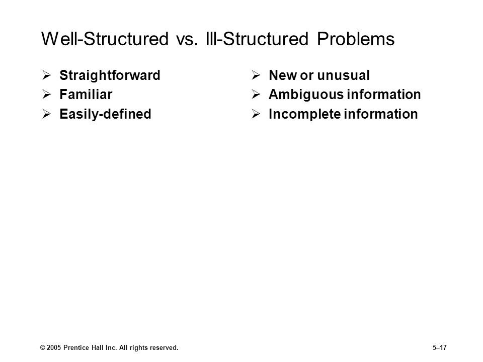 © 2005 Prentice Hall Inc.All rights reserved.5–17 Well-Structured vs.