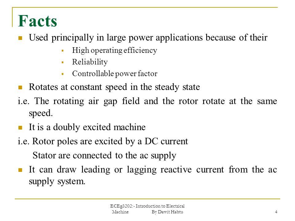 ECEg3202:- Introduction to Electrical Machine By Dawit Habtu 25 Contd.