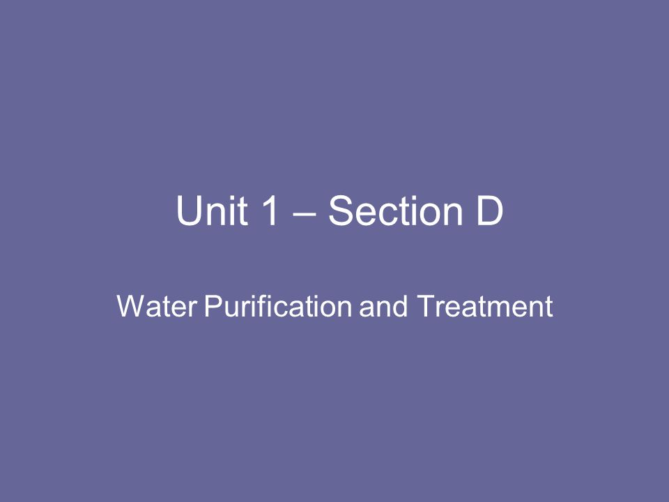 D.5 Chlorination and THMs How to deal with THMs.