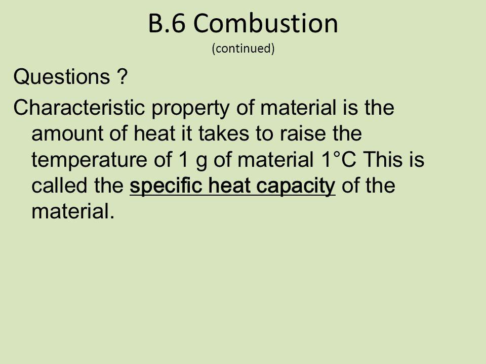 B.6 Combustion Pre-read B.6 – pg 248-251