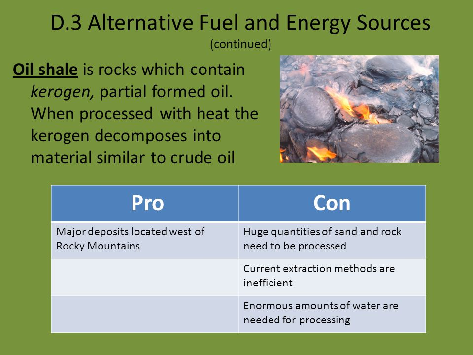 What alternatives might science offer? Alternative Energies