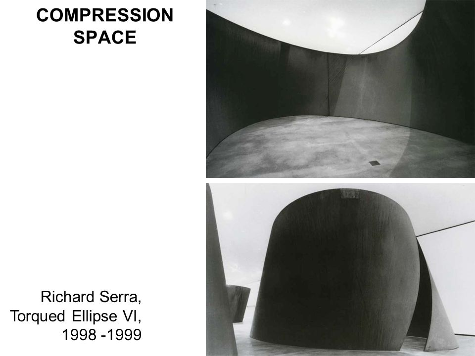 COMPRESSION SPACE Richard Serra, Torqued Ellipse VI,