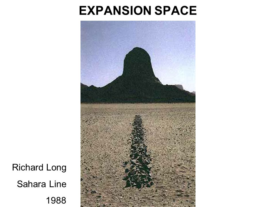 EXPANSION SPACE Richard Long Sahara Line 1988