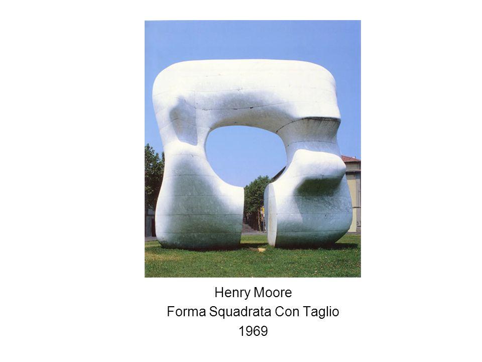 Henry Moore Forma Squadrata Con Taglio 1969