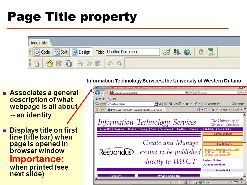 To Preview a webpage in a Browser You can see how your page will appear online by previewing it in a web browser.