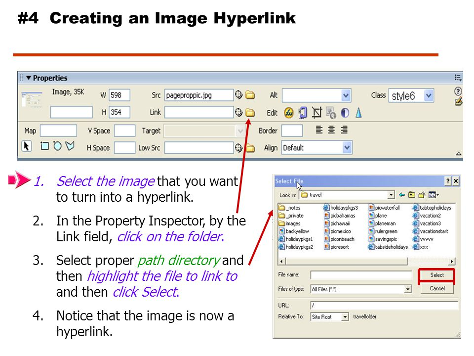 #3 Hyperlink to an e-mail address 1.Select the text that you want to turn into a hyperlink.