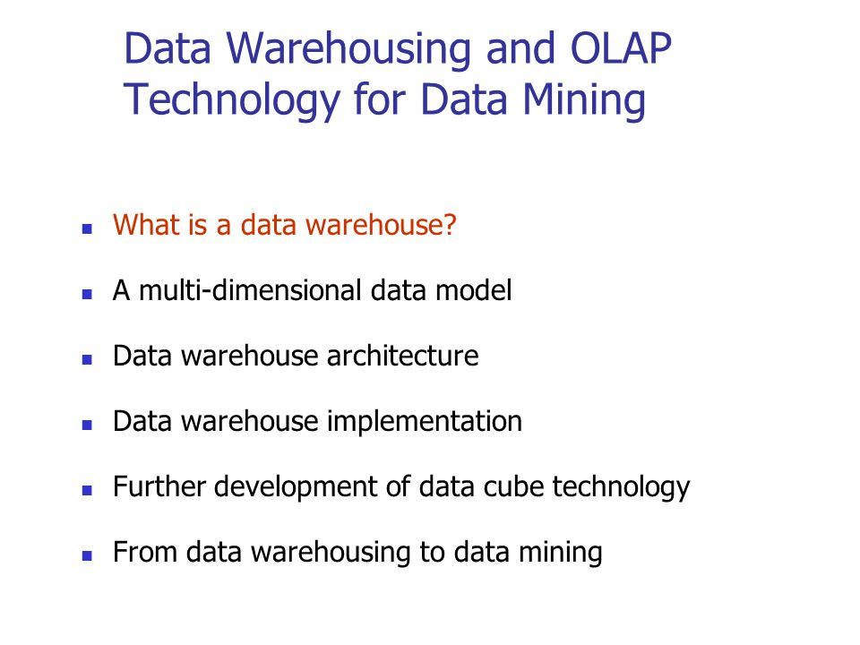 What is Data Warehouse.Defined in many different ways, but not rigorously.