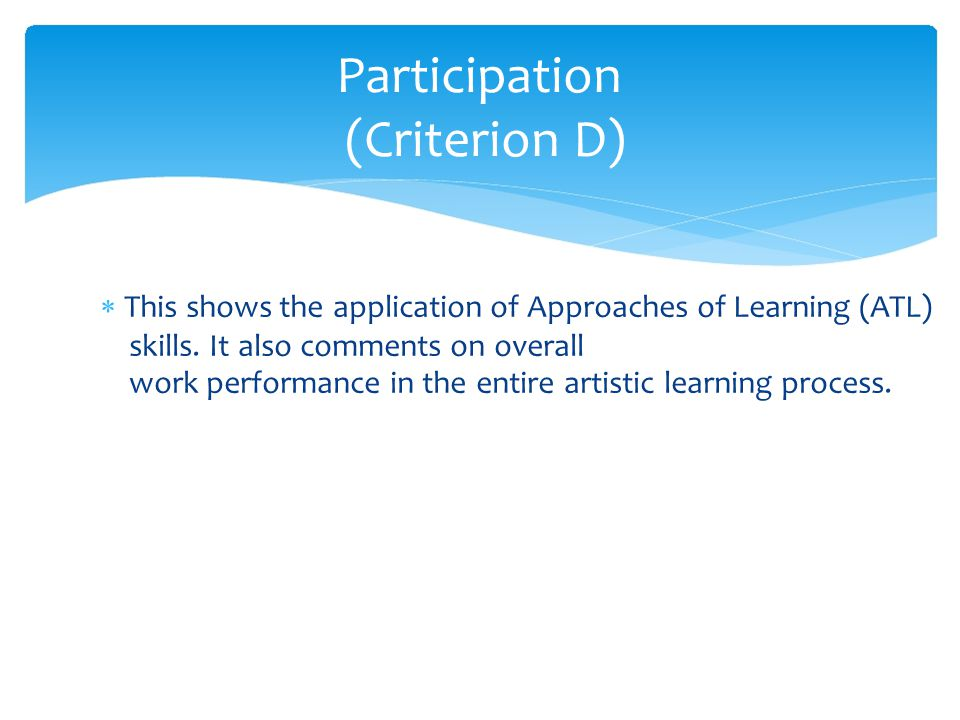  This shows the application of Approaches of Learning (ATL) skills.