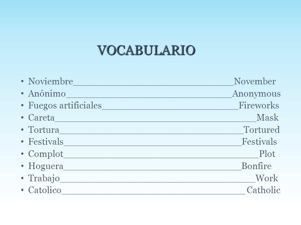 Noviembre___________________________November Anónimo____________________________Anonymous Fuegos artificiales_______________________Fireworks Careta__