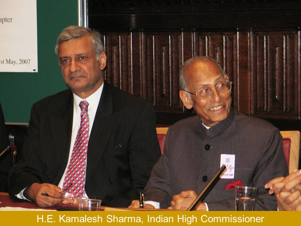 H.E. Kamalesh Sharma, Indian High Commissioner and Dr. L.M. Singhvi