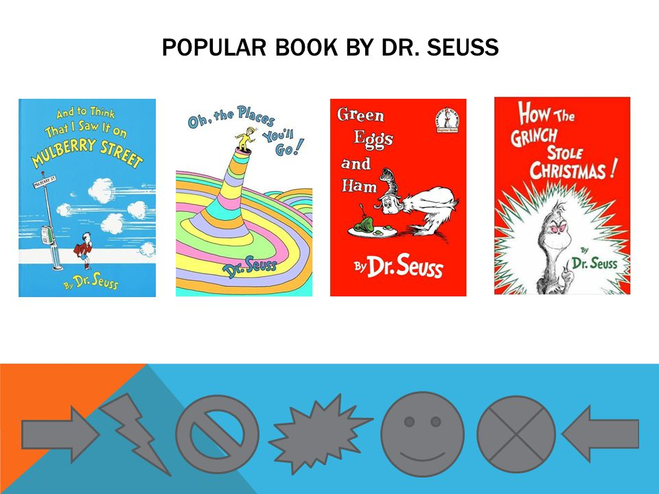 POPULAR BOOK BY DR. SEUSS