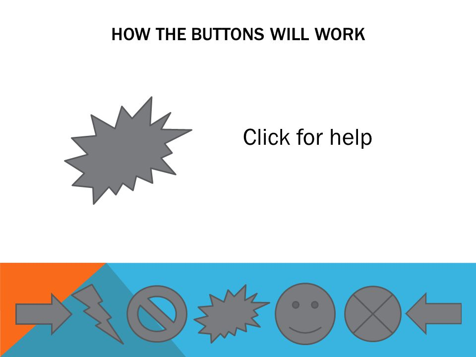 HOW THE BUTTONS WILL WORK Click for help