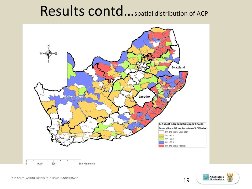 THE SOUTH AFRICA I KNOW, THE HOME I UNDERSTAND STATS SA Census Education level of the labour force, 2011 19 Results contd… spatial distribution of ACP