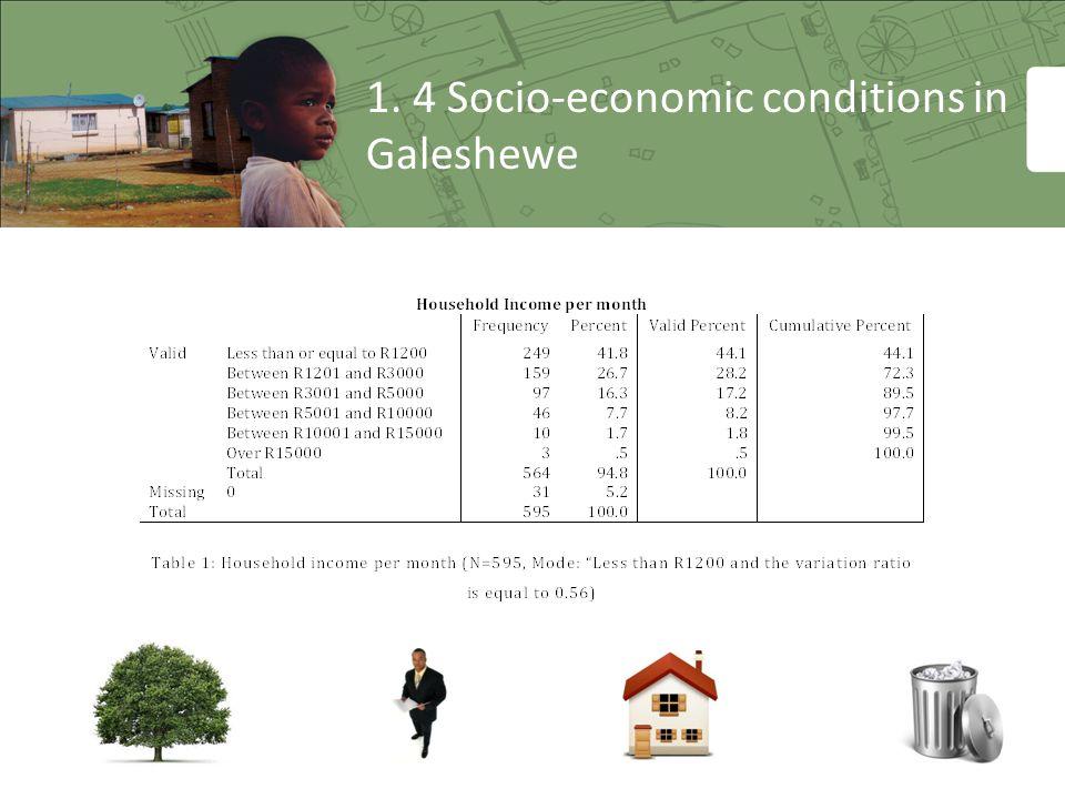 1. 4 Socio-economic conditions in Galeshewe