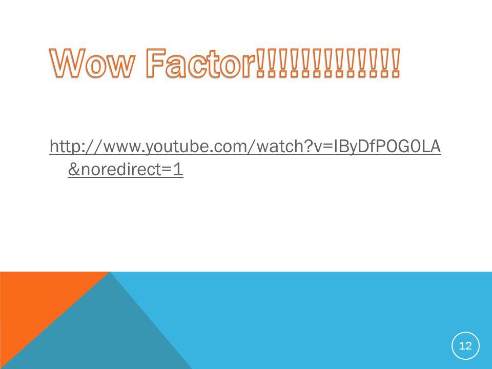 http://www.youtube.com/watch v=lByDfPOG0LA &noredirect=1 12