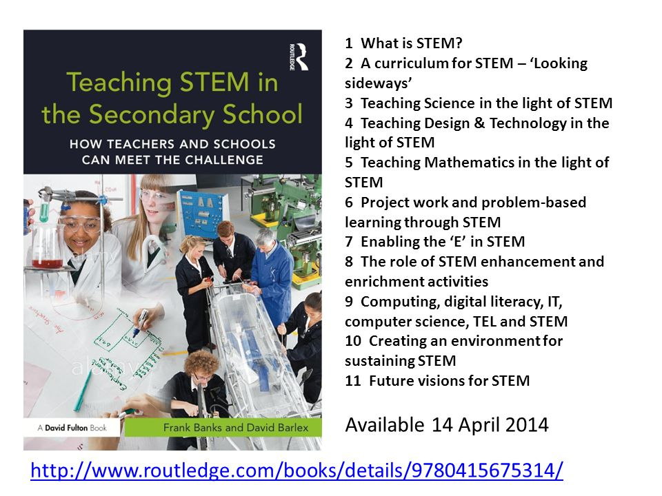 Available 14 April What is STEM.
