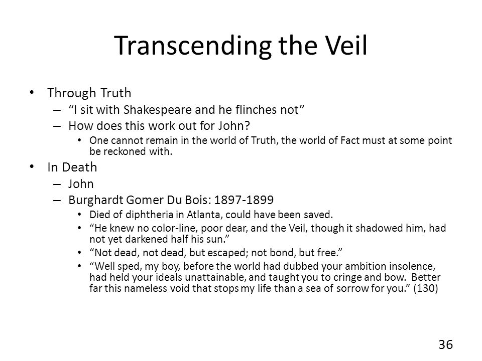 Transcending the Veil Through Truth – I sit with Shakespeare and he flinches not – How does this work out for John.