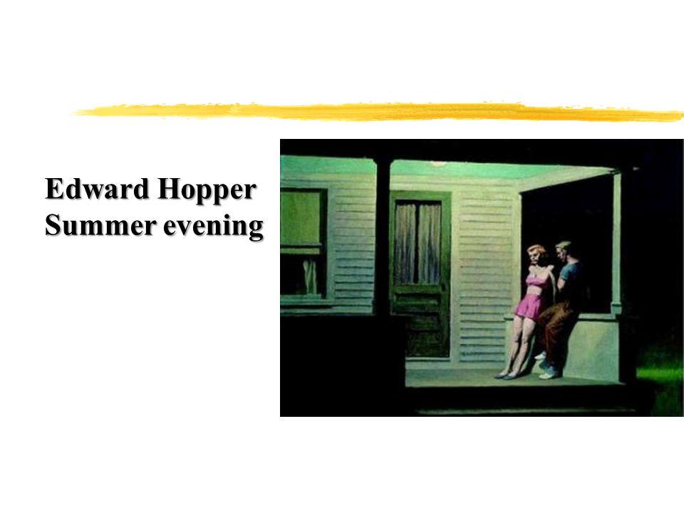Edward Hopper Summer evening