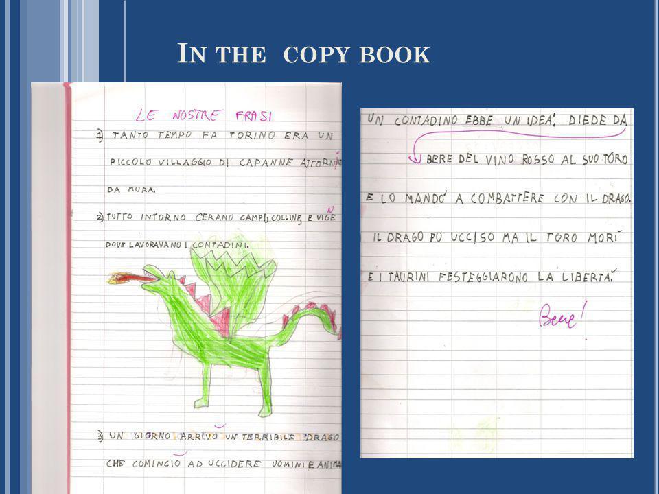 I N THE COPY BOOK