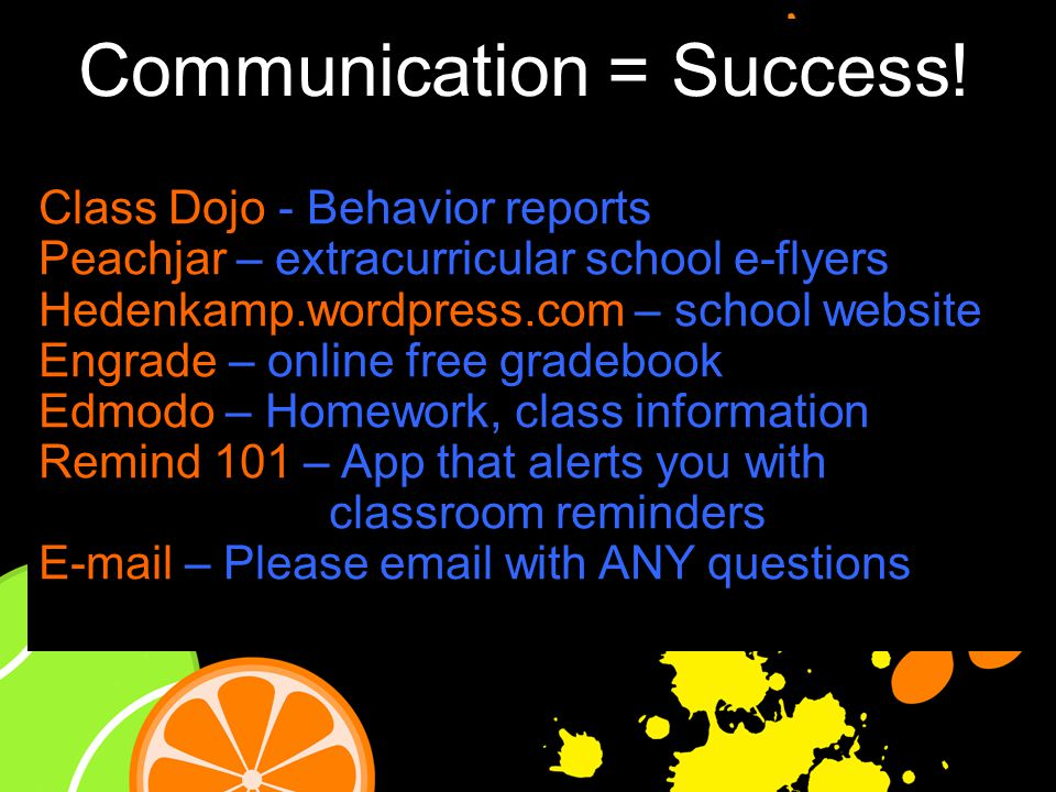 Communication = Success.