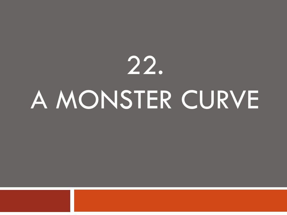 22. A MONSTER CURVE