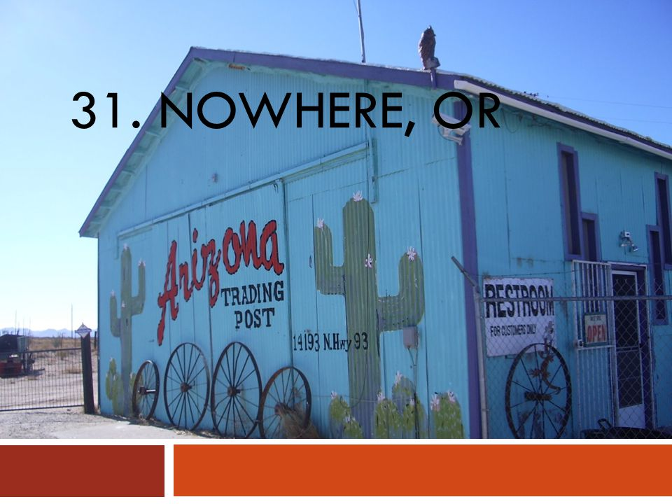 31. NOWHERE, OR