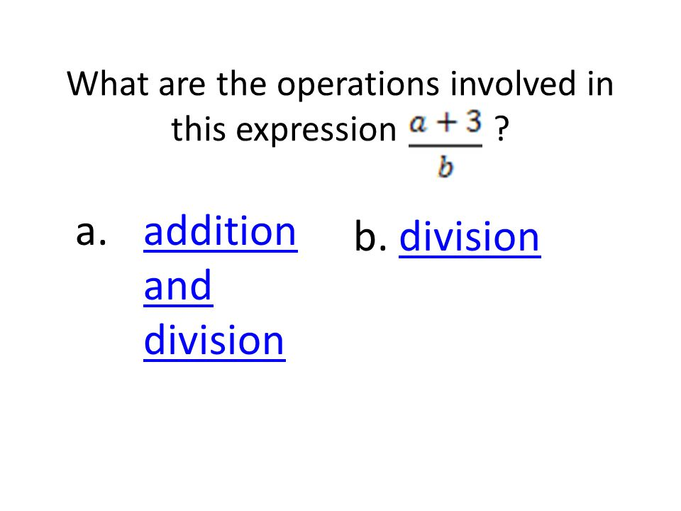 What are the operations involved in this expression .
