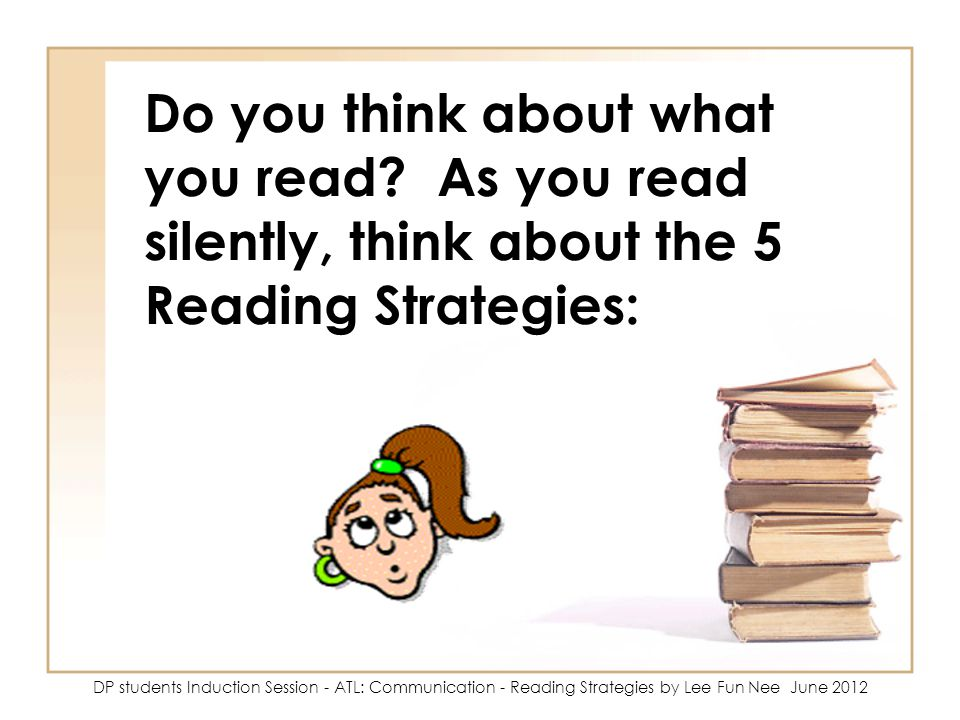 Do you think about what you read.