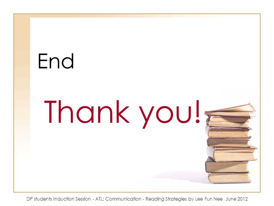End Thank you.