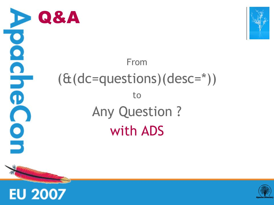 From (&(dc=questions)(desc=*)) ‏ to Any Question with ADS Q&A