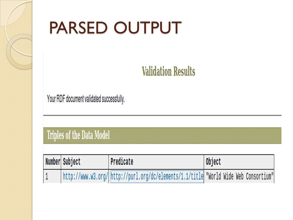 PARSED OUTPUT
