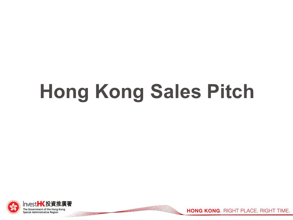 Hong Kong Sales Pitch