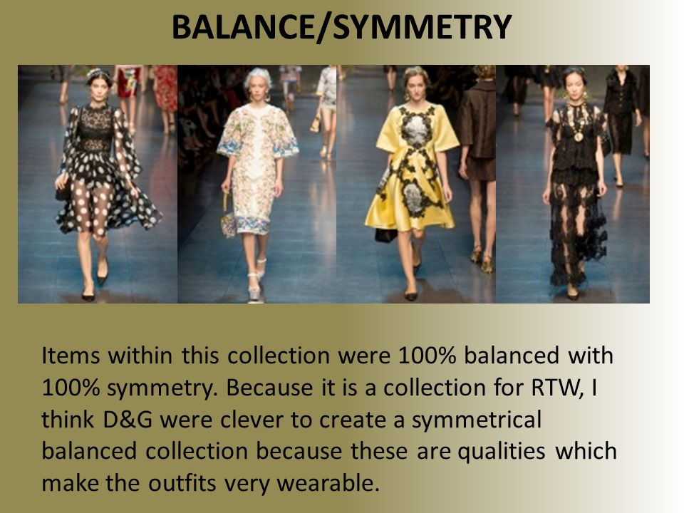 BALANCE/SYMMETRY Items within this collection were 100% balanced with 100% symmetry.