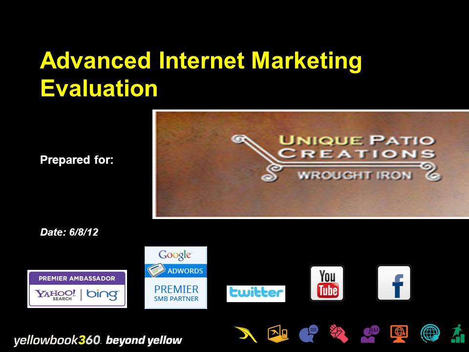 Advanced Internet Marketing Evaluation Prepared for: Date: 6/8/12