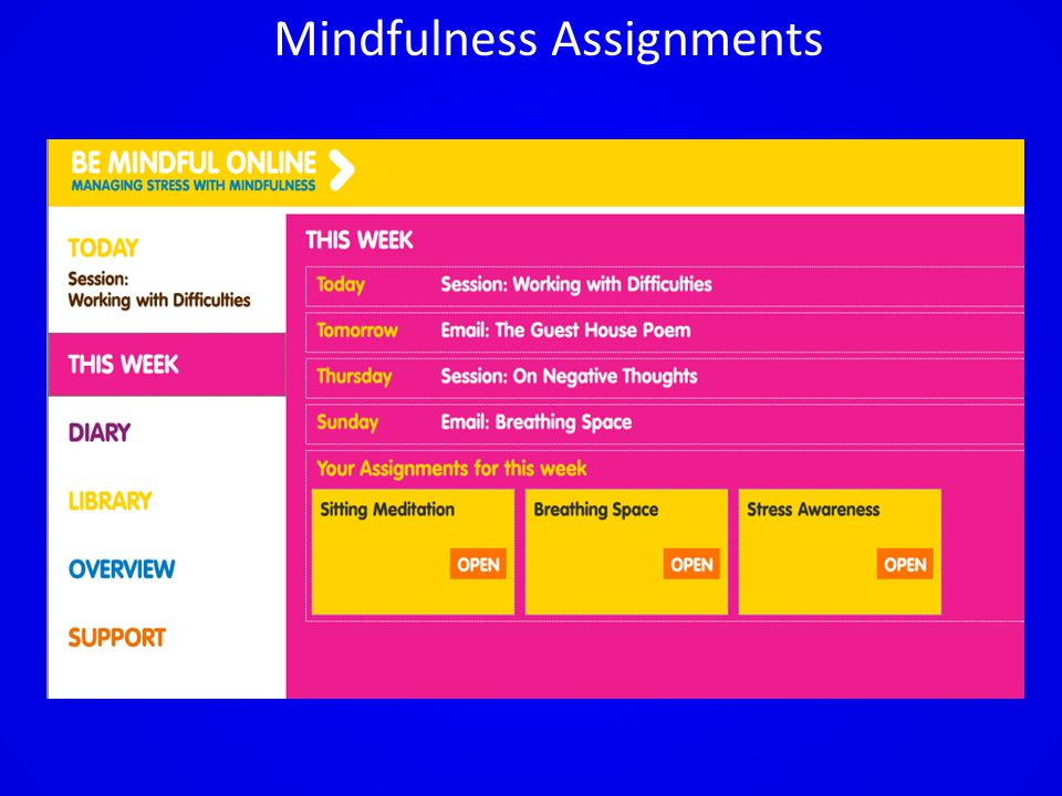Mindfulness Assignments