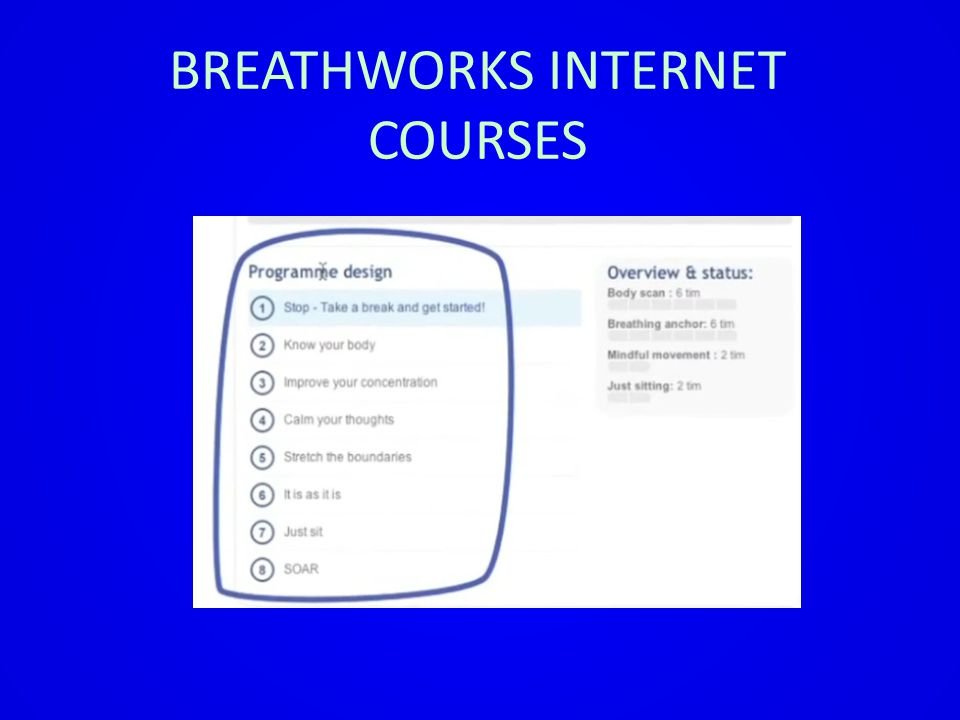 BREATHWORKS INTERNET COURSES