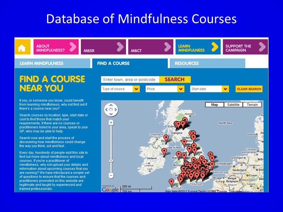 Database of Mindfulness Courses