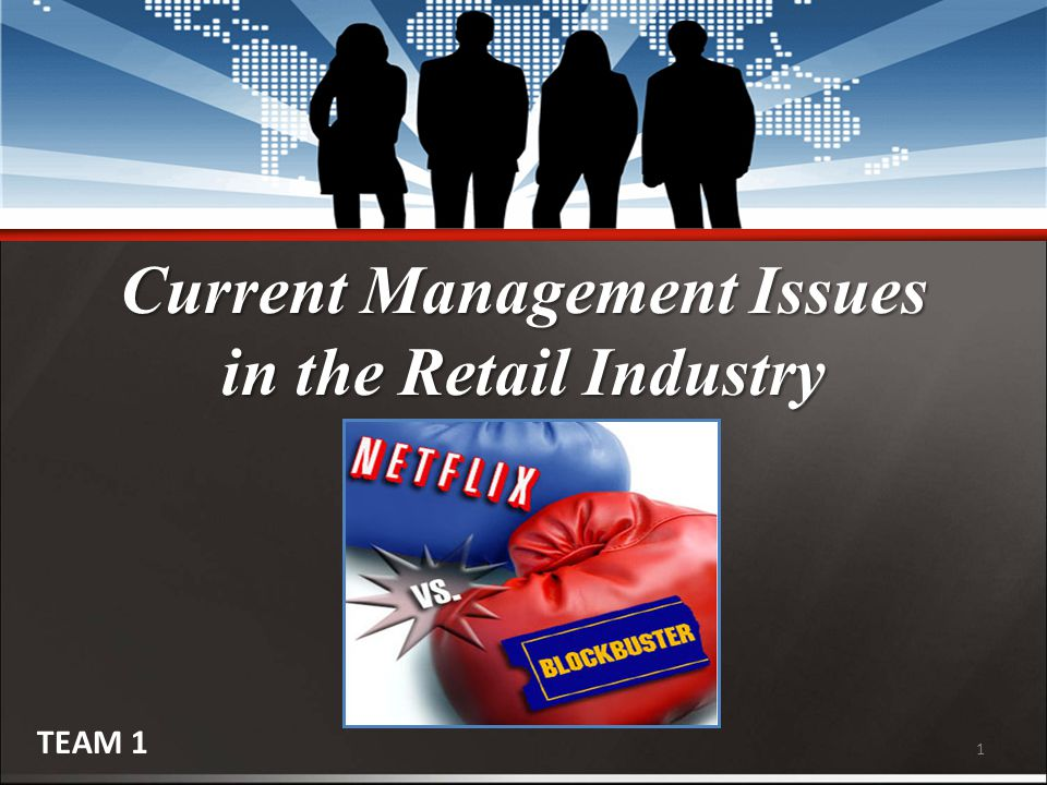 1 Current Management Issues in the Retail Industry TEAM 1