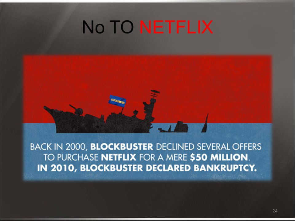 No TO NETFLIX 24