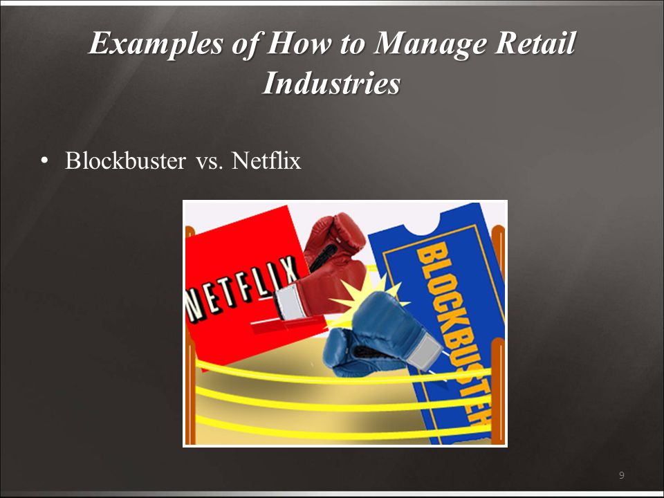 9 Examples of How to Manage Retail Industries Blockbuster vs. Netflix