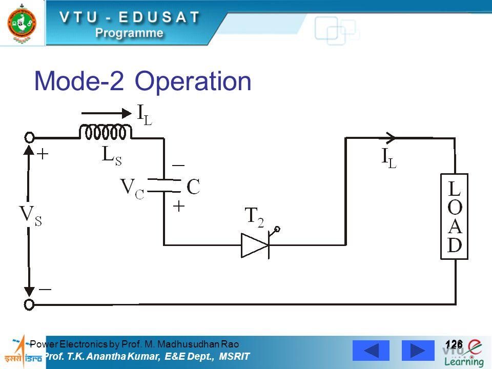 Power Electronics by Prof. M. Madhusudhan Rao 126 Prof. T.K. Anantha Kumar, E&E Dept., MSRIT Mode-2 Operation