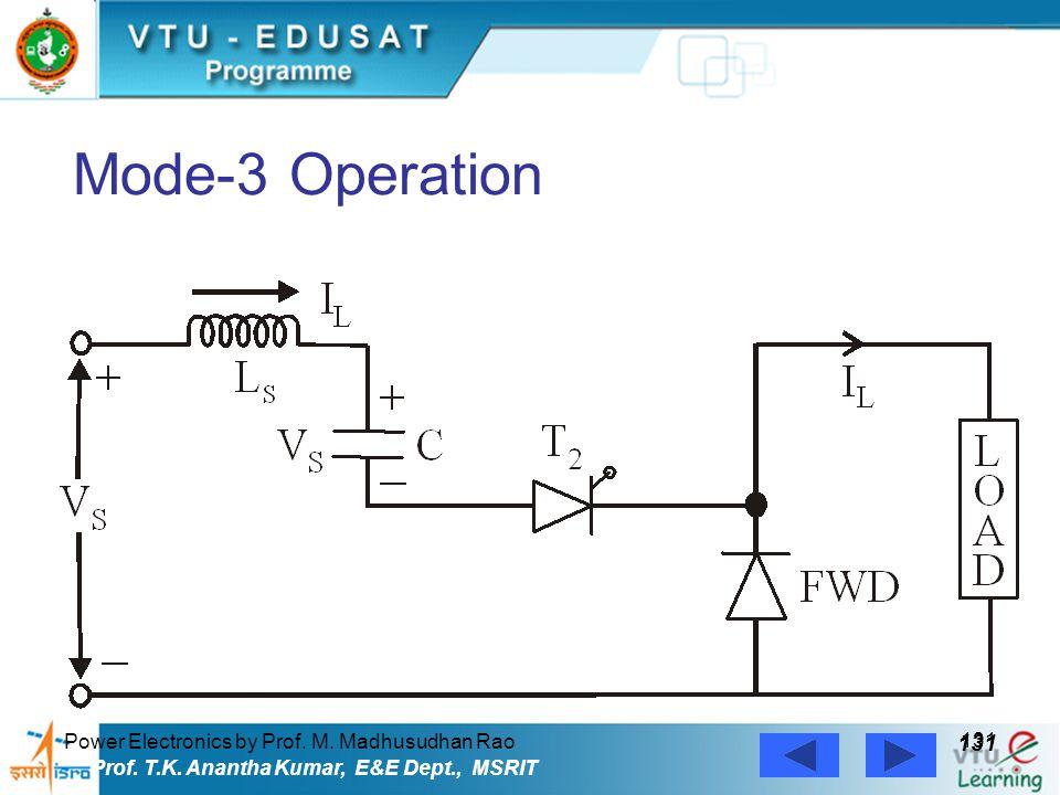 Power Electronics by Prof. M. Madhusudhan Rao 131 Prof. T.K. Anantha Kumar, E&E Dept., MSRIT Mode-3 Operation