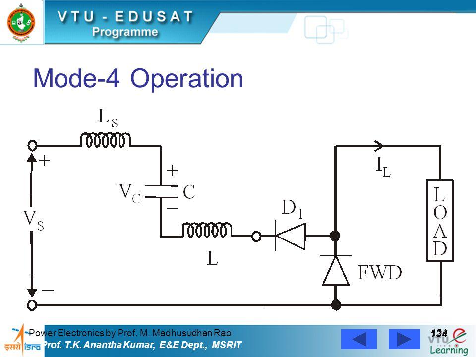 Power Electronics by Prof. M. Madhusudhan Rao 134 Prof. T.K. Anantha Kumar, E&E Dept., MSRIT Mode-4 Operation