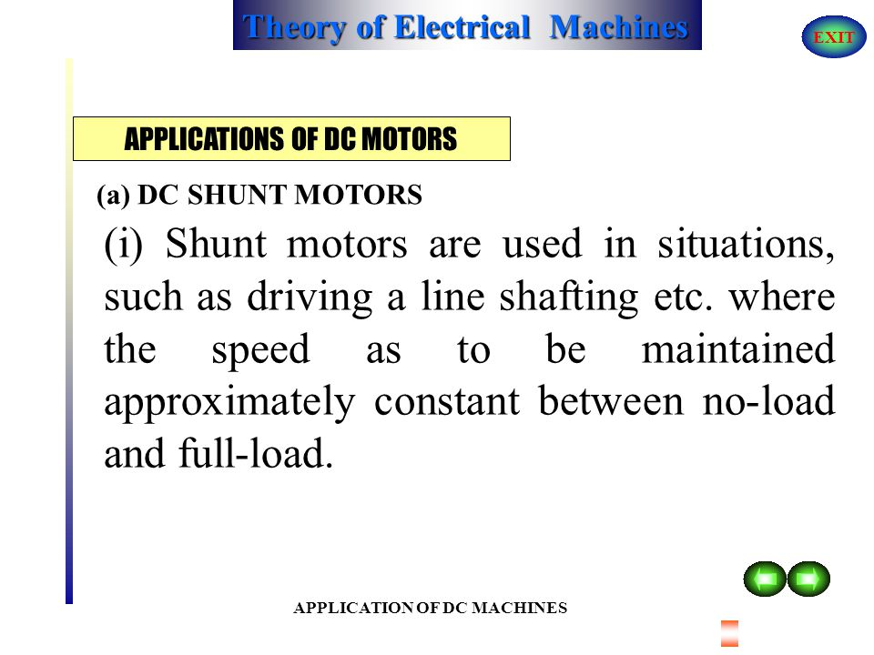 Theory of Electrical Machines EXIT PERFORMANCE AND CHARACTERISTICS OF DC MOTORS CHARACTERISTICS OF DC COMPOUND MOTORS 3. Speed - Torque characteristic