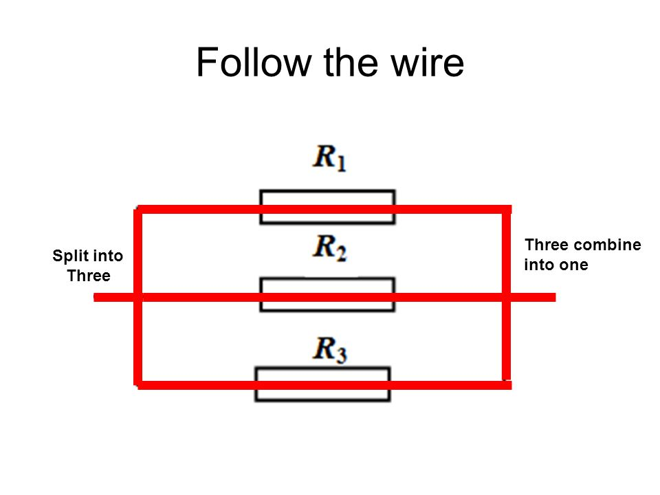 Follow the wire Split into Three Three combine into one
