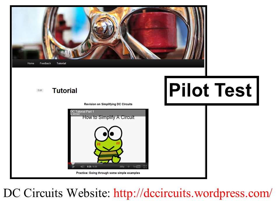 DC Circuits Website: http://dccircuits.wordpress.com/ Pilot Test