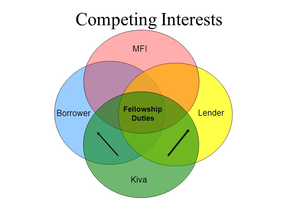 Borrower Lender MFI Kiva Fellowship Duties Competing Interests