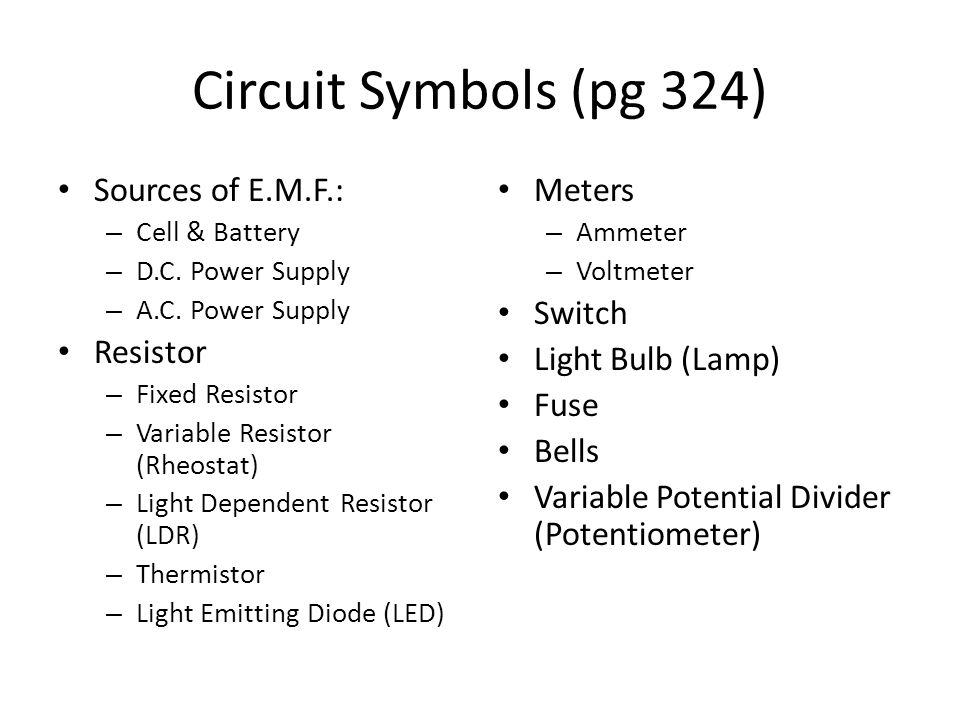 Worked Example 13 Potential divider circuits may also involve the use of LDRs and Thermistors Design a circuit which switches on a lamp automatically when it turns dark (hint: when bright, p.d.