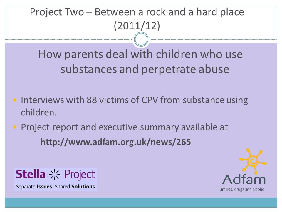 How parents deal with children who use substances and perpetrate abuse Interviews with 88 victims of CPV from substance using children.
